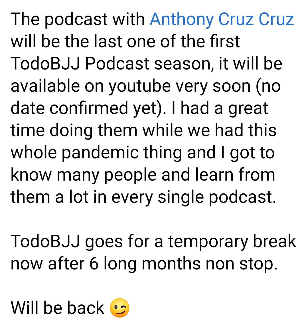 Thanks my friend @BjjTodo for the opportunity!!!🤙 #AnthonyTheTigerCruz #TeamRenzoGracie @Twitter https://t.co/AP2DO858vK