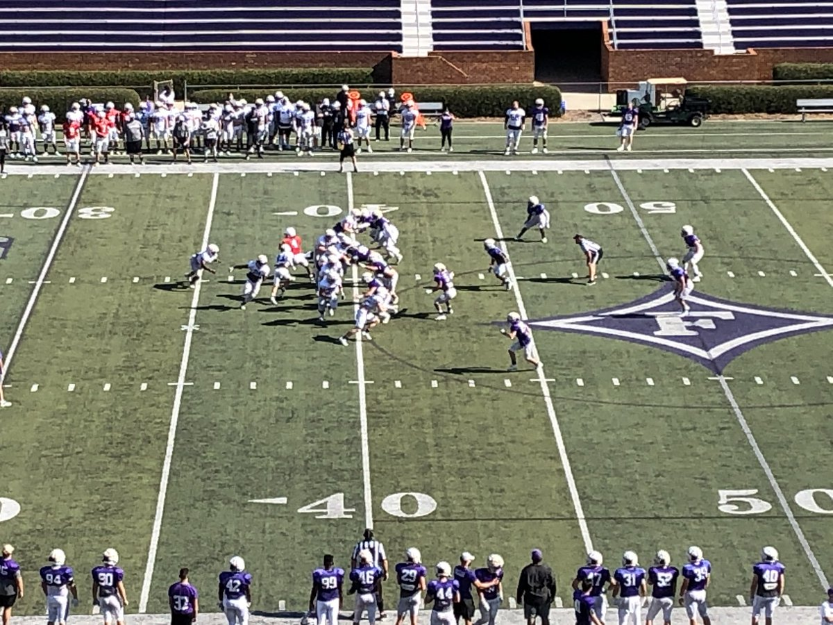 What a beautiful day for a @FurmanPaladins homecoming scrimmage.