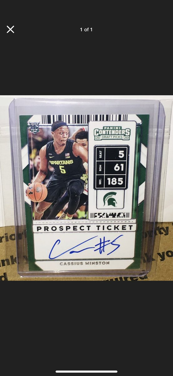 Looking for 2020-21 Panini Contenders Draft Picks Cassius Winston cards. Please tag and RT #ISO @HobbyConnector @Hobby_Connect @mlbhobbyconnect https://t.co/CUSnIrvIDB