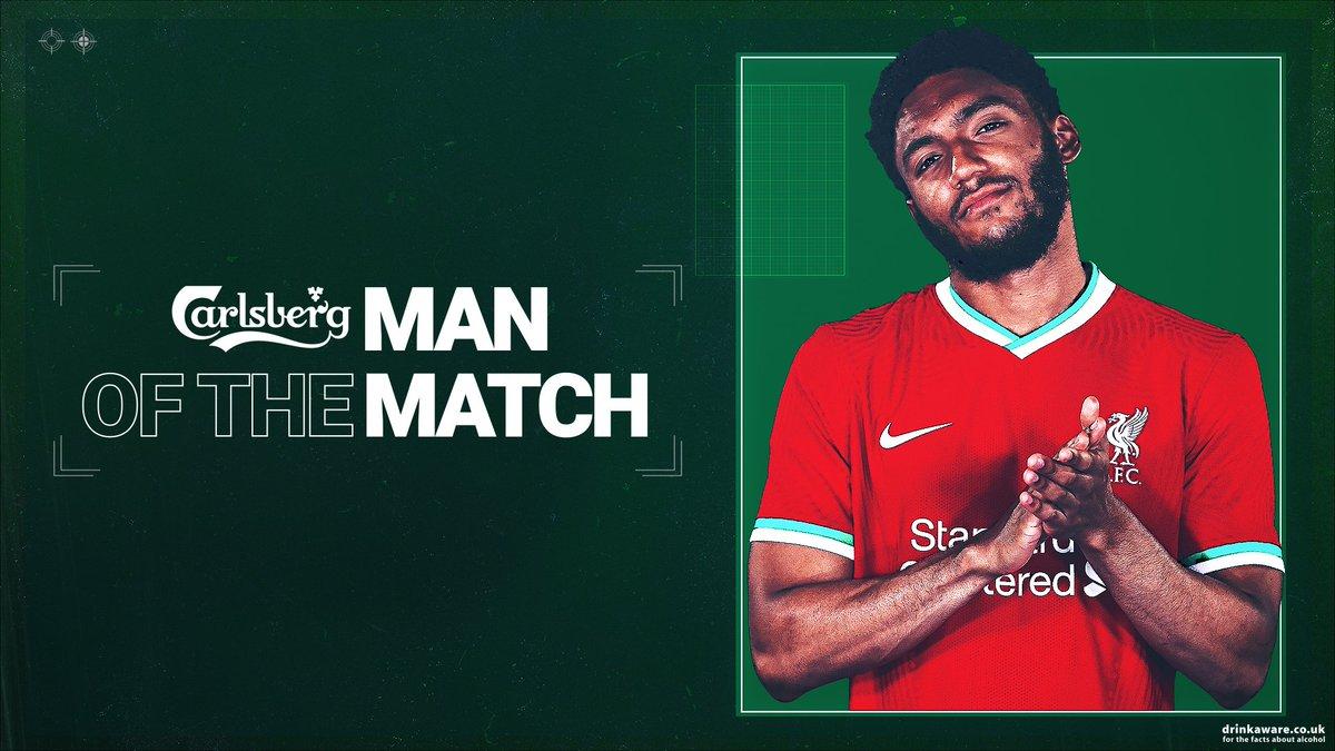 Boss, @J_Gomez97 🔥  Your #LIVSHU @carlsberg Man of the Match 🏆 https://t.co/mD2wyXzcFq