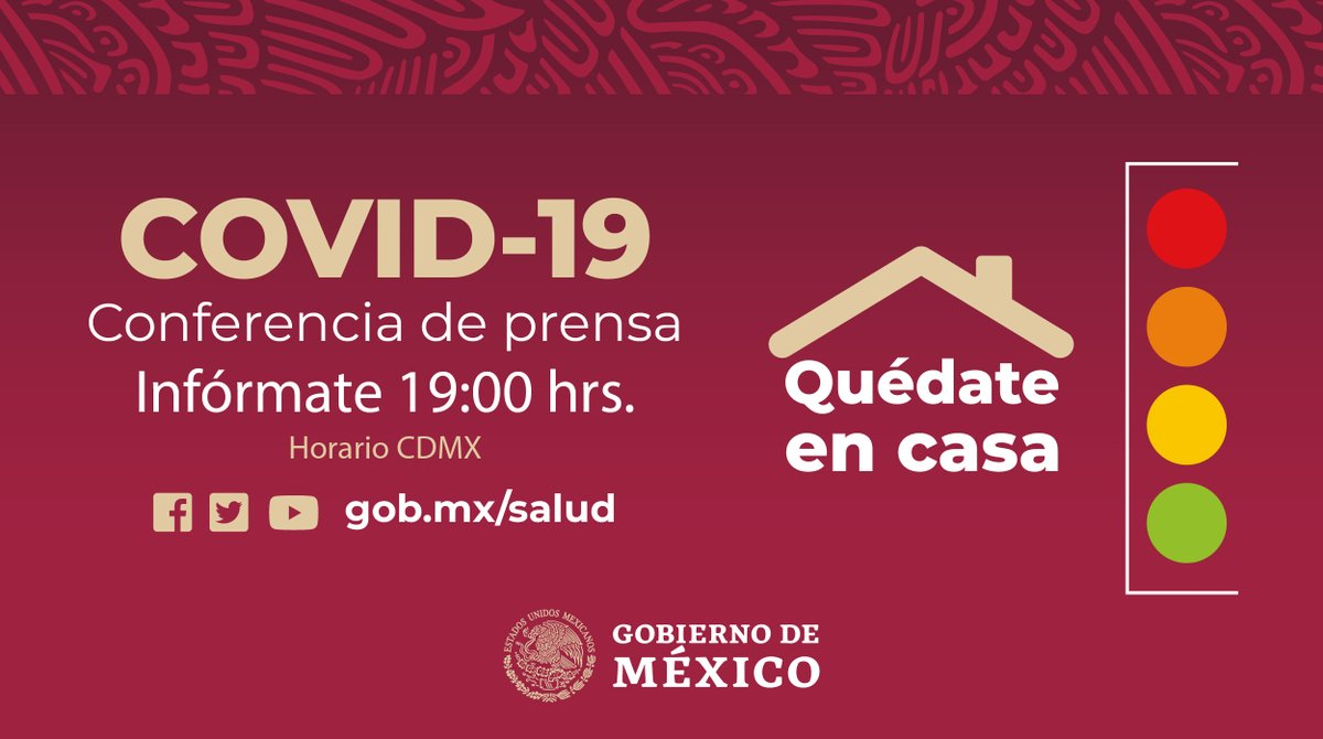 #Infórmate Conferencia de Prensa sobre #COVID19    #QuédateEnCasa   🔗https://t.co/rvshTDtERM https://t.co/fWGskOjSty