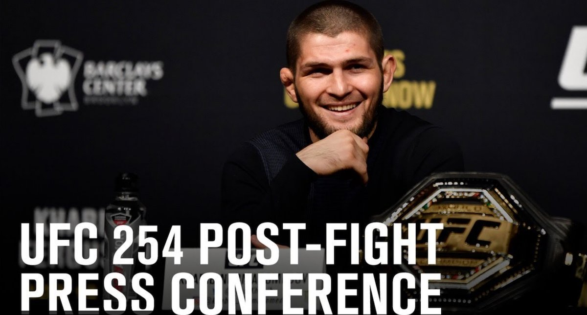 #UFC 254: Watch The Post-fight Press Conference Right Here - https://t.co/dLlAd8cyPn #UFC254 https://t.co/OMOZU3j9Fa