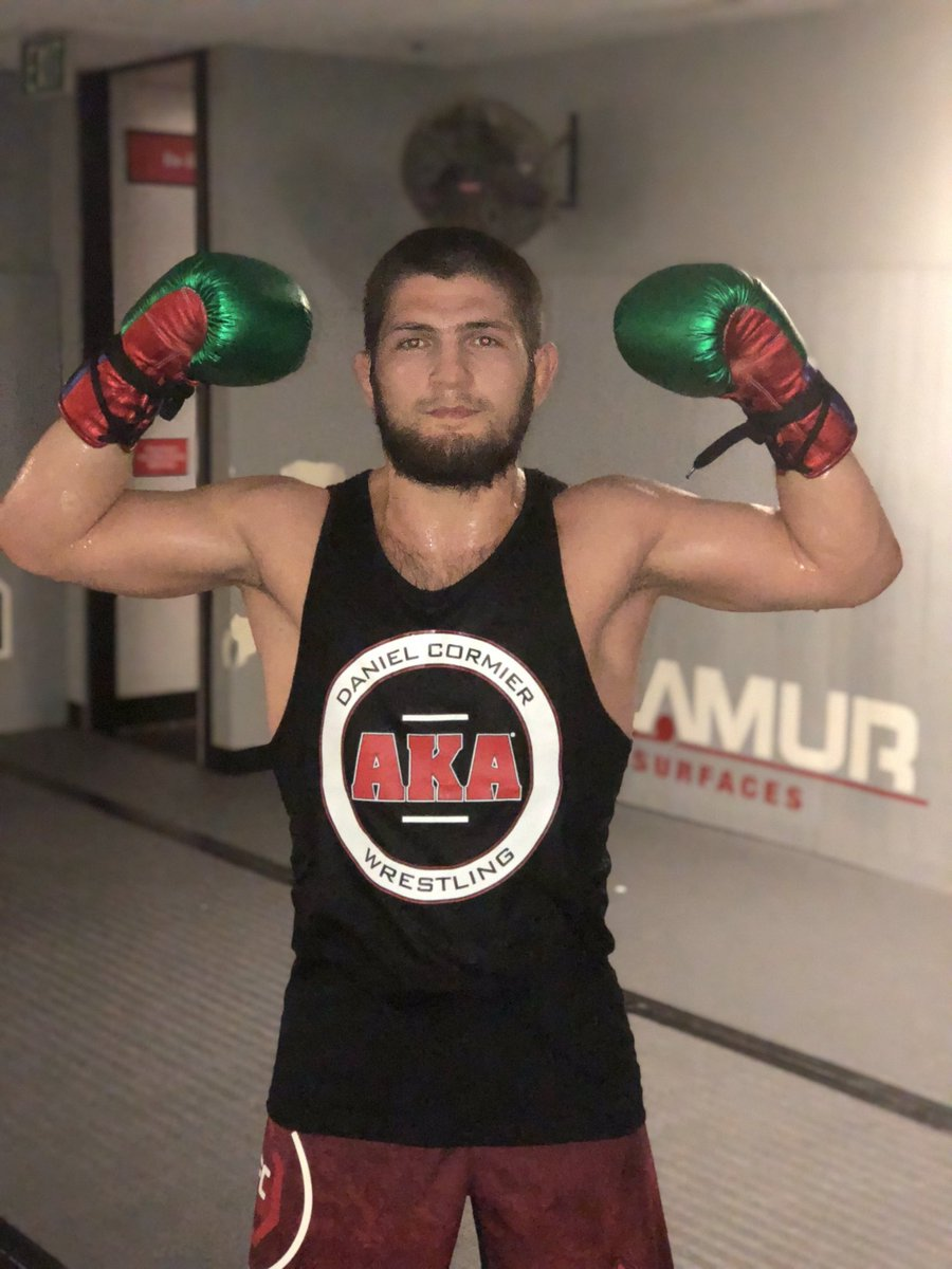 Congratulations to the greatest champion in @ufc history. What a career, we are forever grateful for the time we got to spend with you my brother. 29-0 undefeated and undisputed. #weareaka #eaglesmma #fathersplan #heissoproud ⁦@TeamKhabib⁩ https://t.co/uXjiT34JuV