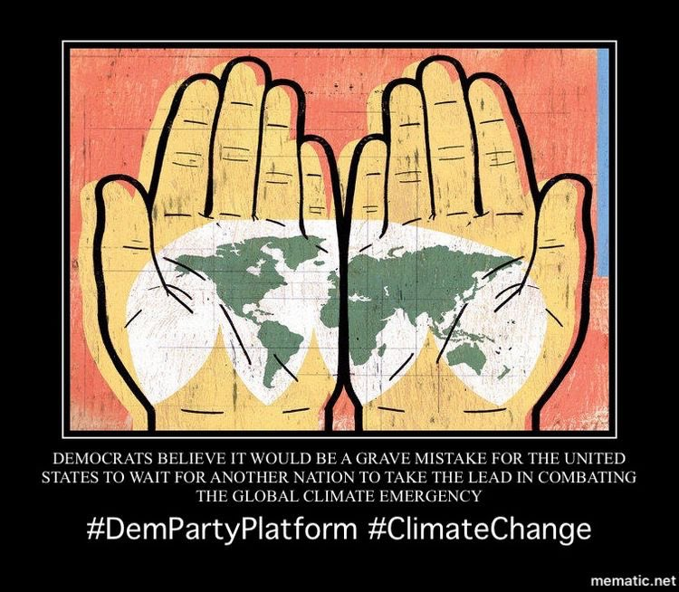 #Democrats will rejoin the Paris Climate Agreement and, on day one, seek higher ambition from nations around the world, putting the United States back in the position of global leadership where we belong. 7/18 #DemPartyPlatform  #ParisClimateAgreement  #ClimateAction