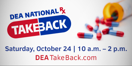 #DYK in 2018, 9.9 million Americans misused controlled prescription drugs? The majority of abused prescription drugs were obtained from friends and family. On national #TakeBackDay, you can safely turn in your unused meds at collection sites near you: takebackday.dea.gov