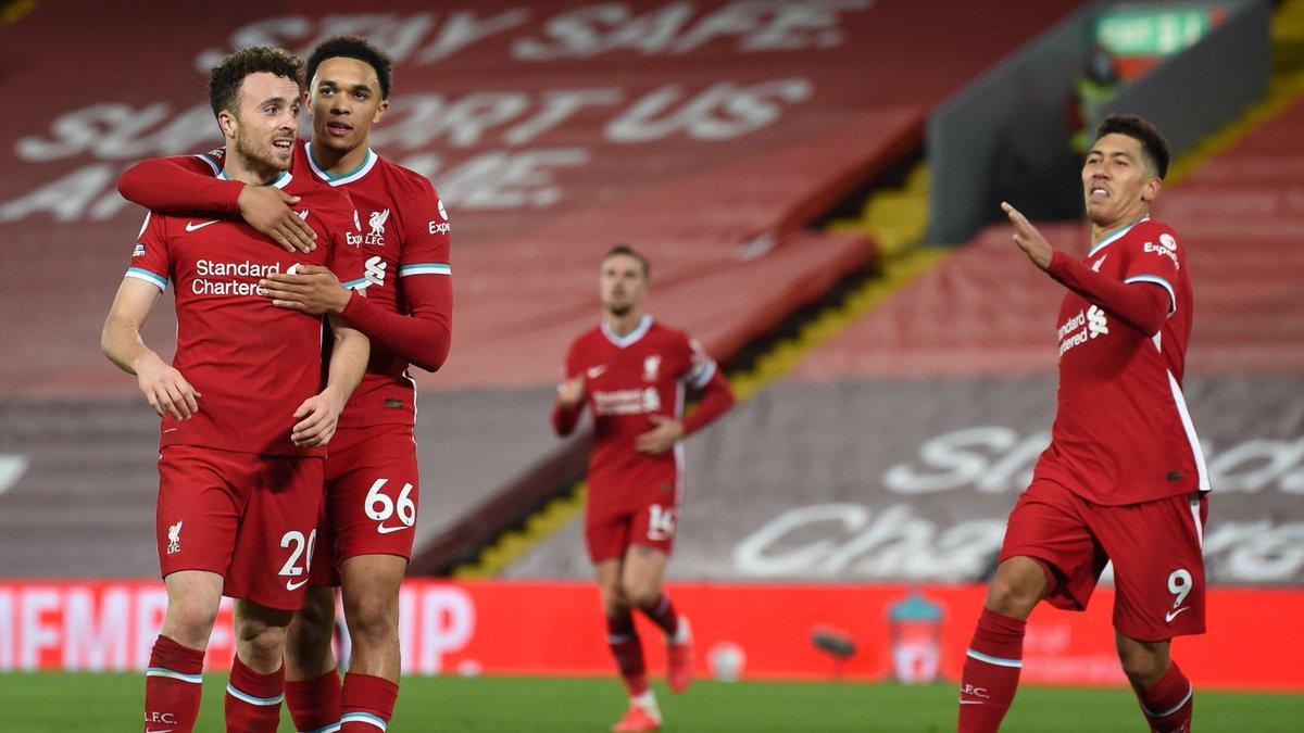 ¡LOS 'REDS'! Con goles de Roberto Firmino 🇧🇷 y Diogo Jota 🇵🇹, Liverpool 🔴 se impuso por 2-1 sobre el Sheffield United por la fecha 6 de la Premier League 🏴 y sumó 13 puntos en el segundo lugar de la tabla de posiciones. #AlientaDesdeCasa https://t.co/hF3NWjCifg