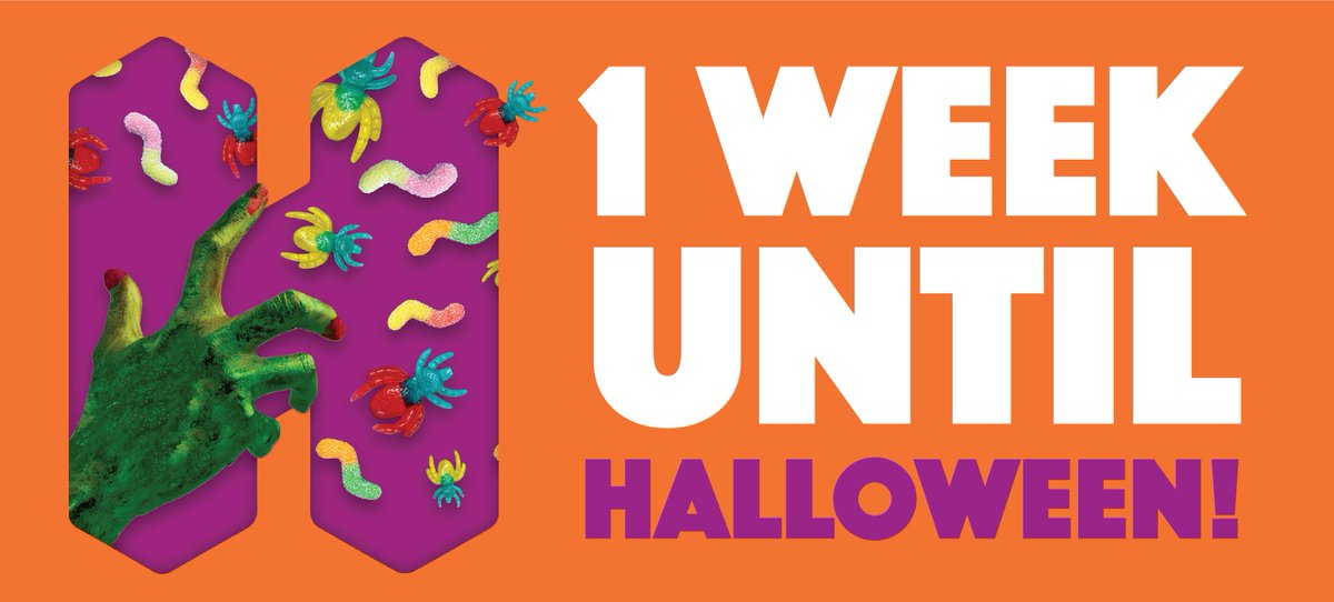 👻 It's only 1 WEEK until Halloween 👻  Don't forget to check out our 3 week sweet deals to see what Halloween must haves we have on offer right now!  Stock up to ensure you make the most out of your sales this Spooky Season 🎃  Check out our deals here 👉 https://t.co/aRUoEqWN2k https://t.co/7fLptrGiwf