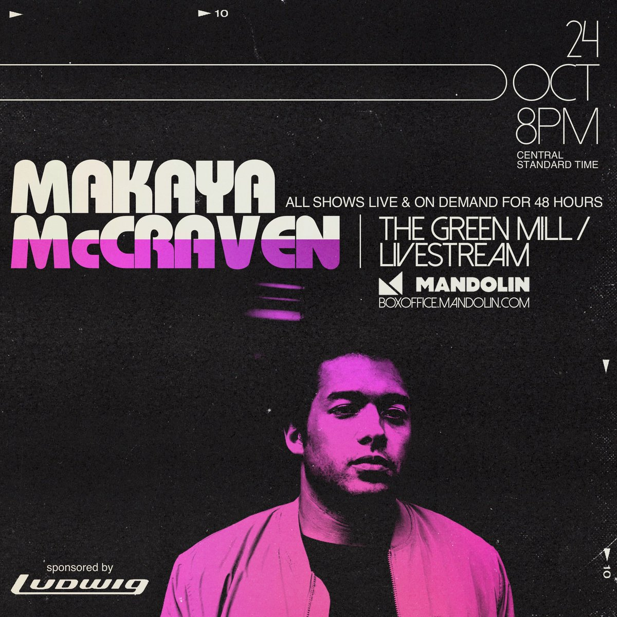 Pretty cool that we can all catch @MakayaMcCraven  at the same time, no matter where we may be on this little blue planet of ours. If the show starts too late in your neck of the woods, a 'ticket' gives you access for 48 hours.   'TICKETS':