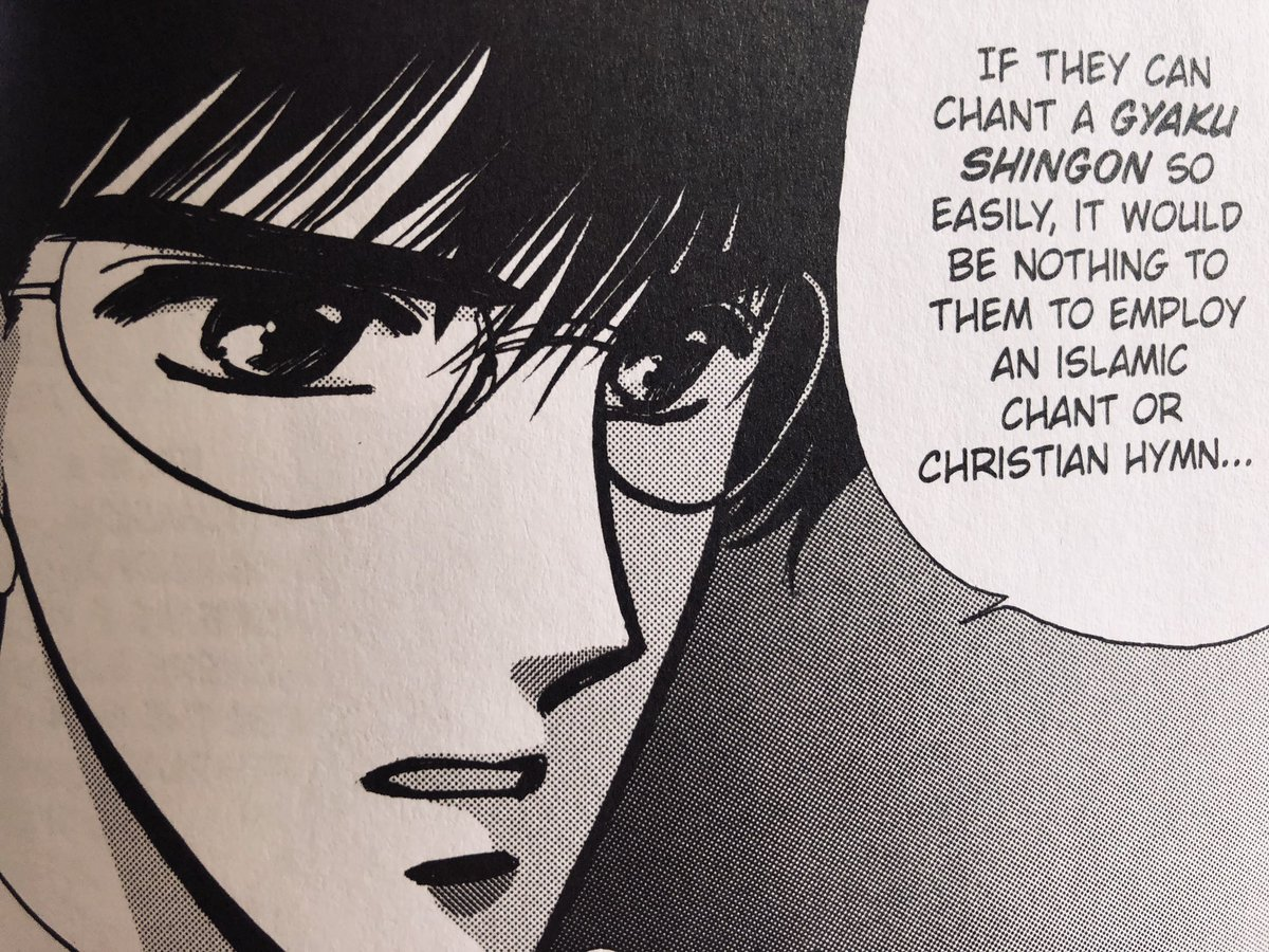 Seishirou saying they could employ an Islamic chant or christian hymn