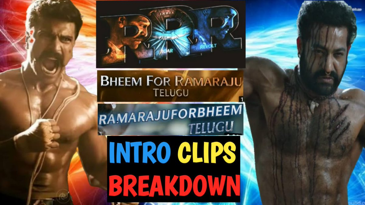 #BheemforRamaraju #RamarajuforBheemOnOct22  #RRRMovie #RRR  #JrNTR #RamCharan #Rajamouli  RRR TRAILERS Intro CLIP BREAKDOWN