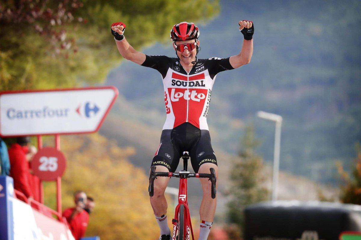 Victoire d'étape 🥇✅ Roi de la montagne  👑✅ Fier sponsor  🤩✅  #VueltaAEspana #proudsponsor #bienplusquejouer #loterienationaleloterij https://t.co/daxjZ9N8Lf