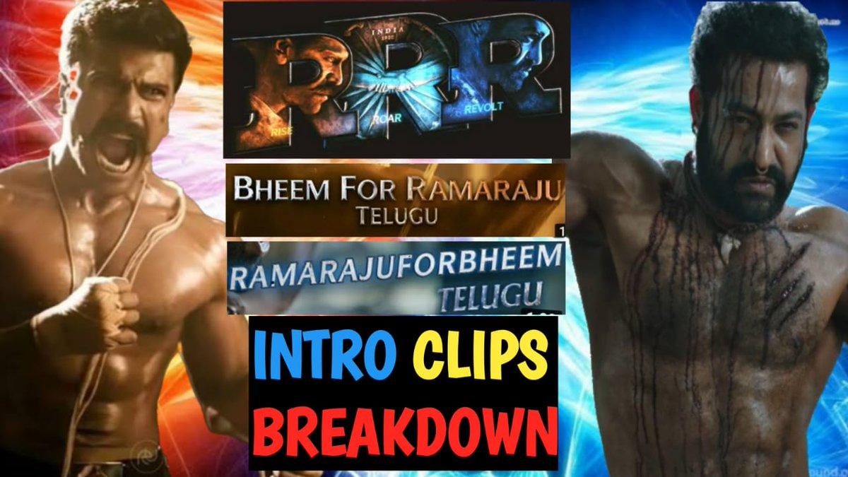 @AlwaysRamCharan @tarak9999 @ssrajamouli @RRRMovie #BheemforRamaraju #RamarajuforBheemOnOct22  #RRRMovie #RRR  #JrNTR #RamCharan #Rajamouli  RRR TRAILERS Intro CLIP BREAKDOWN