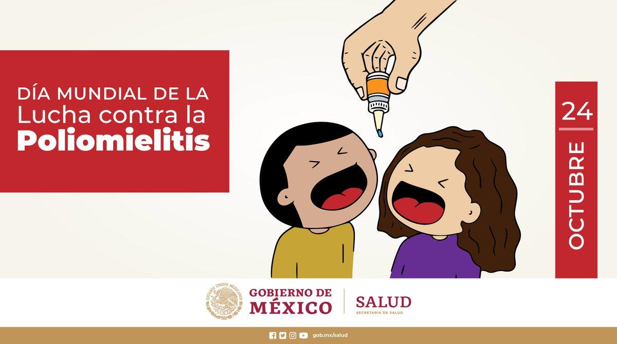 24 de octubre | Día Mundial de la Lucha contra la #Poliomielitis  Más información en ➡️ https://t.co/buNxVTllRO https://t.co/gryqbdUUFn