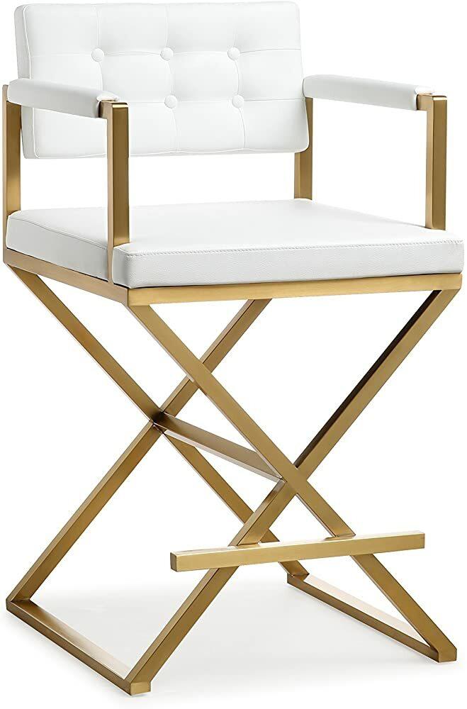 TOV Furniture Director Steel Counter Stool, Standard, White https://t.co/juZMEsNm7K #gifts #giftideas #shopping #household #holiday #blackfriday #thanksgiving #cybermonday @amazon #amazon #primeday https://t.co/EuqtAn8wy3