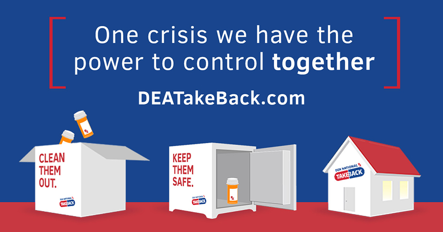 #HappeningNow: Today is @DEAHQ's #TakeBackDay. Help keep your family and your community safe by bringing unused or expired prescription medications to your nearest collection site from 10 a.m. to 2 p.m. Find a convenient location athttps://takebackday.dea.gov. https://t.co/GYEa7ODWYv