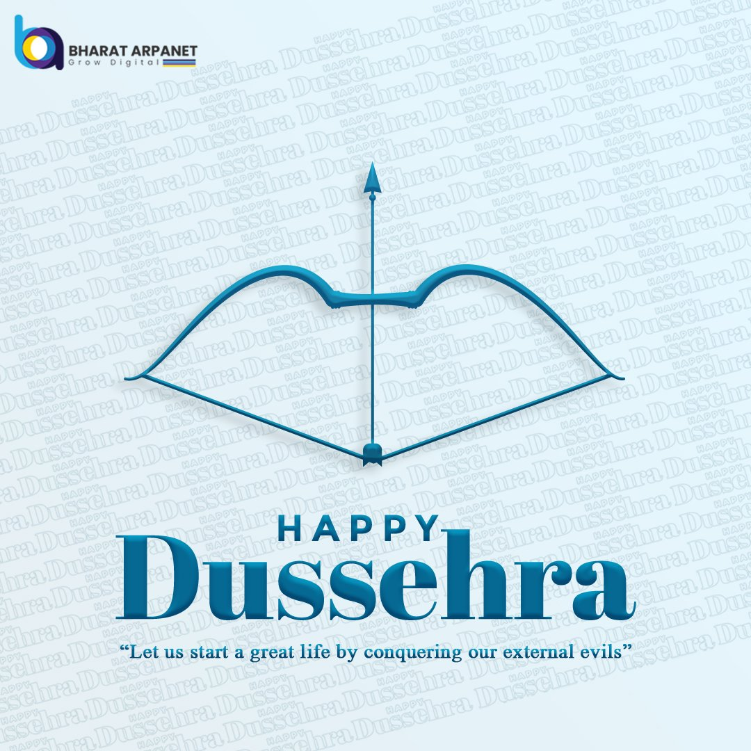 Celebrate the triumph of truth over evil. 😇 May Lord Rama bless you with immense love and happiness and give you the courage to win over every hurdle in life.   Bharat ARPANET wishes you and your family a happy and prosperous Dussehra.🏹  #HappyDussehra #dussehra2020 #lordrama https://t.co/6blrF5LEGh