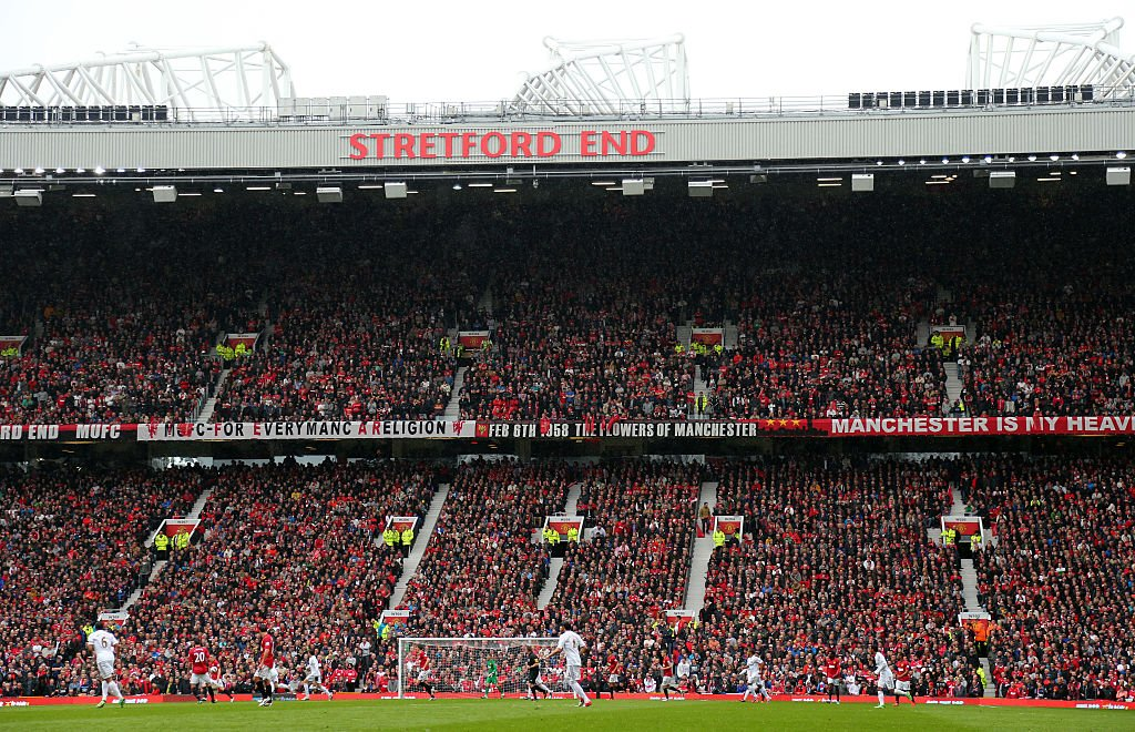 Solskjaer: 'If that Stretford End is full, we might get some help and get the ball over the line.'