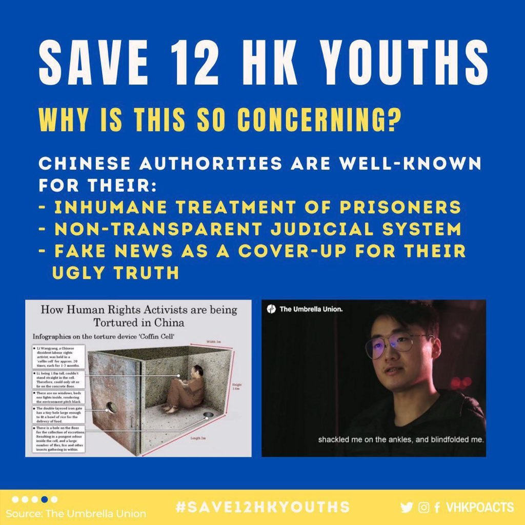 @TAINA2121 @marcorubio @MPlainDS @SenatorCardin @JohnCornyn @CoryGardner @SenJeffMerkley @andy_is_missing @save12hkyouths #HongKongProtests started from 2019 was about fighting for real democracy and against CCP. The 12 youths are prosecuted for participating in HK protests and would like to flee to Taiwan  for political asylum. Yet they were kidnapped by China in the sea and no news after that. https://t.co/tJqiJ1JKyH