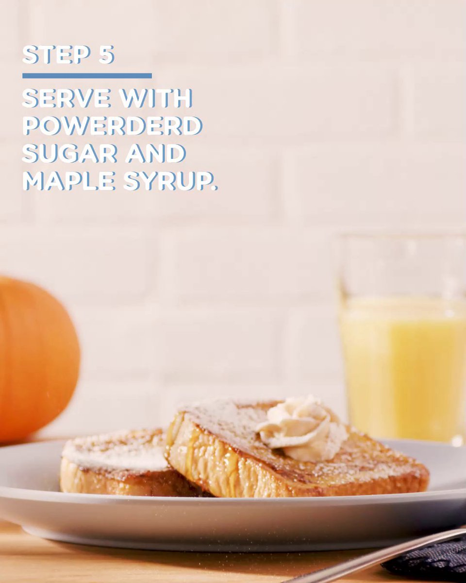 Fall mornings call for a taste of pumpkin greatness 🎃 Try this Pumpkin French Toast recipe that can be made in just 11 minutes. Click for the recipe. #BetterForLower