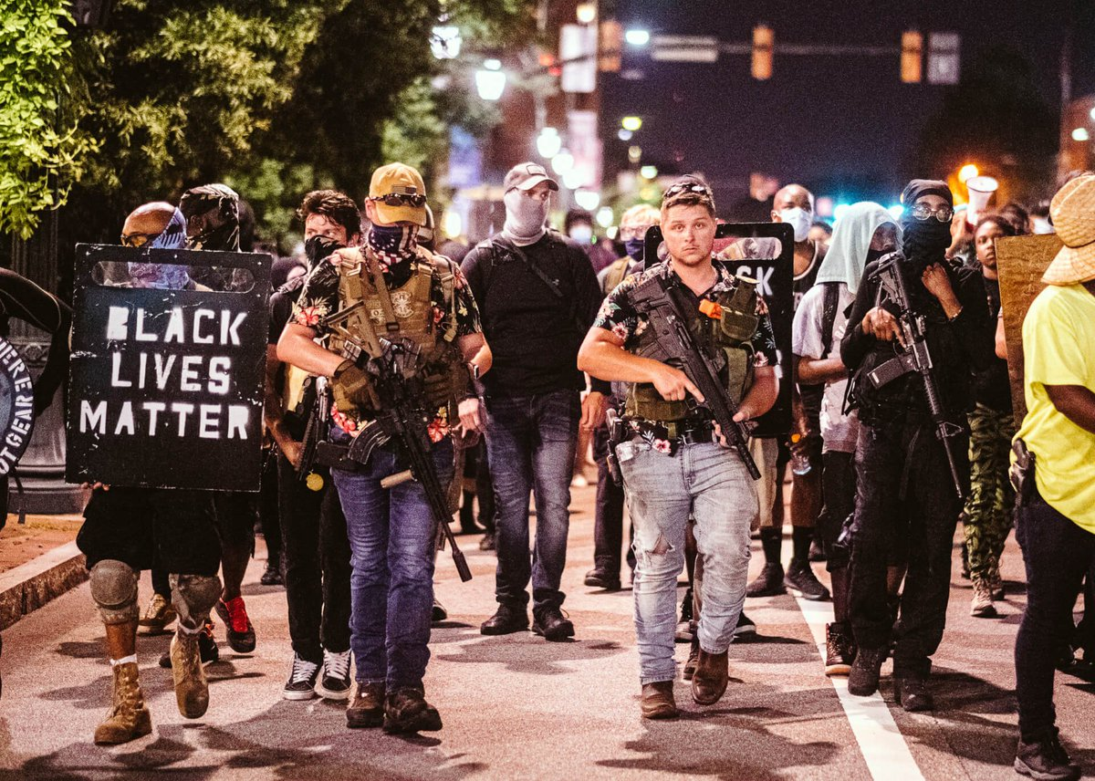 Here's proof of them with BLM! They're not white supremacy! They're not proud boys (who are also not white supremacy)! And they have no love with law enforcement nor government!  #boogaloobois #BLMAntifaTerroristsThugs #AntifaTerrorists #blmterrorists #minneapolisriots https://t.co/PHpTax2Es2