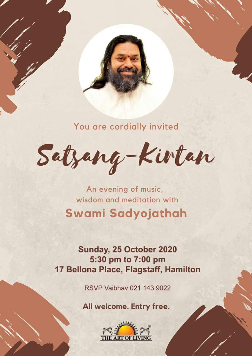 Today Satsang in Hamilton ( @ArtofLiving @SriSri ) #NewZealand 🇳🇿 https://t.co/mZMOgqQBky