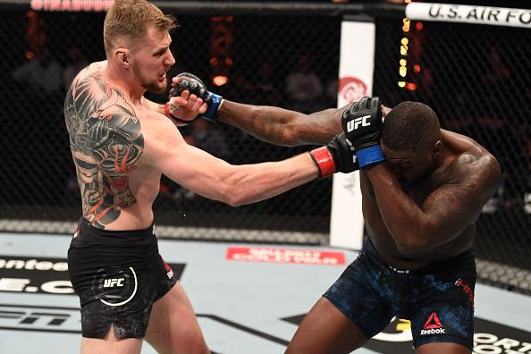 #UFC254 Official Result: @AlexDragoVolkov def Walt Harris by TKO, Round 2, 1:15  All Results: https://t.co/3x8Pov4w4Y  #InAbuDhabi | @VisitAbuDhabi https://t.co/KGPIrZQrON