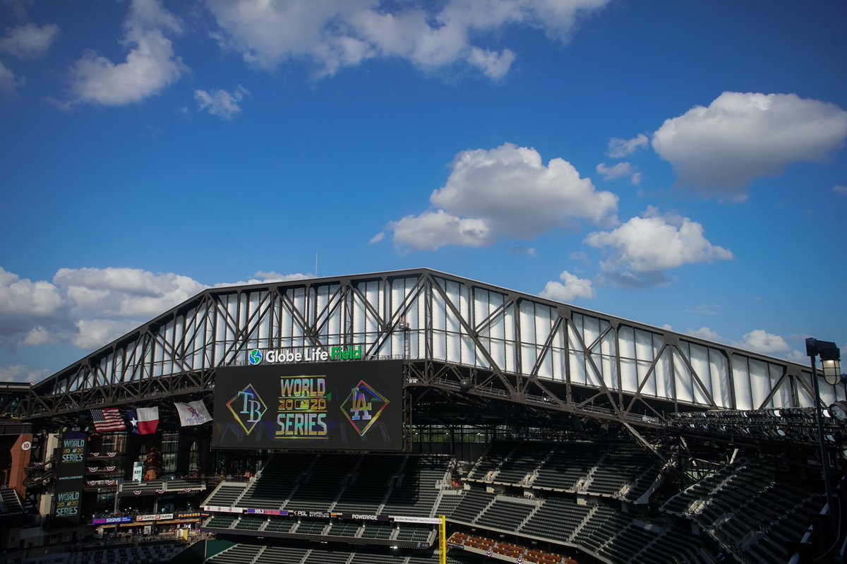 The roof will be open for Game 4 of the World Series.