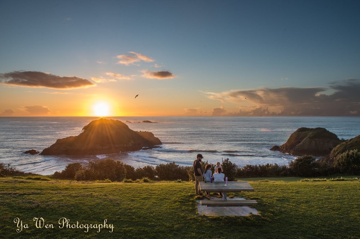 At Paritutu Rock, New Plymouth, New Zealand. Family is the time we spend together at every sunset. #YaWenPhotography https://t.co/rSTeguDhwj