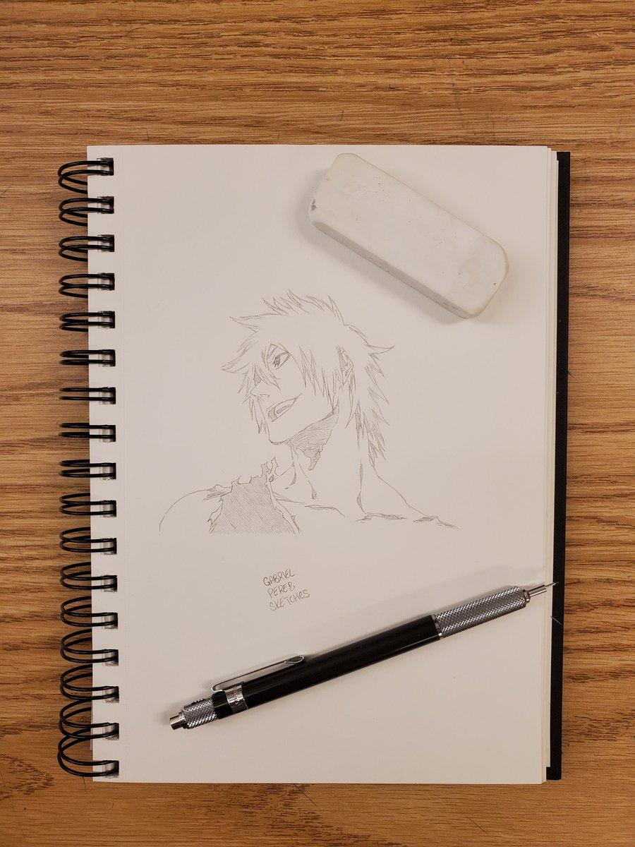 Ichigo Kurosaki 🖊️  #sketchbook #sketchbookart #sketching #sketchbookdrawing #dailysketches #sketchdaily #pendrawing #quicksketch #justdraw #sketchpad #sketchoftheday #pencildrawing #figuredrawing #drawsomething #draweveryday #artofdrawing #drawdaily #inkdrawing #mysketchbook https://t.co/KHm8lsdOkW