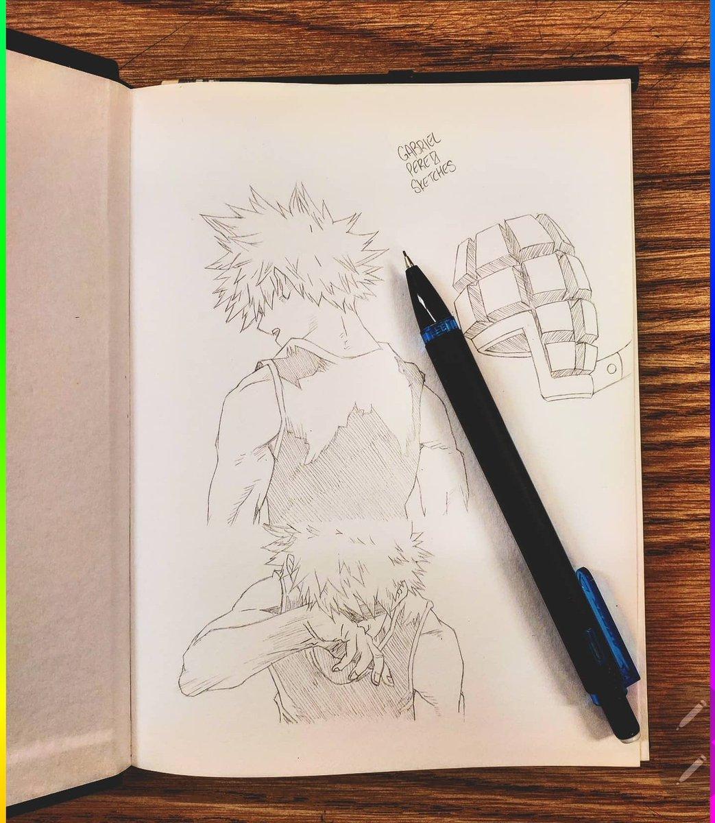 Katsuki Bakugo 🖊️  #sketchbook #sketchbookart #sketching #sketchbookdrawing #dailysketches #sketchdaily #pendrawing #quicksketch #justdraw #sketchpad #sketchoftheday #pencildrawing #figuredrawing #drawsomething #draweveryday #artofdrawing #drawdaily #inkdrawing #mysketchbook https://t.co/ai8PCM2HXO