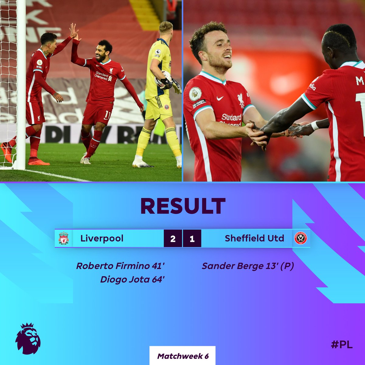 Liverpool come from behind to get the 𝗪  #LIVSHU https://t.co/43RuPAUWFg