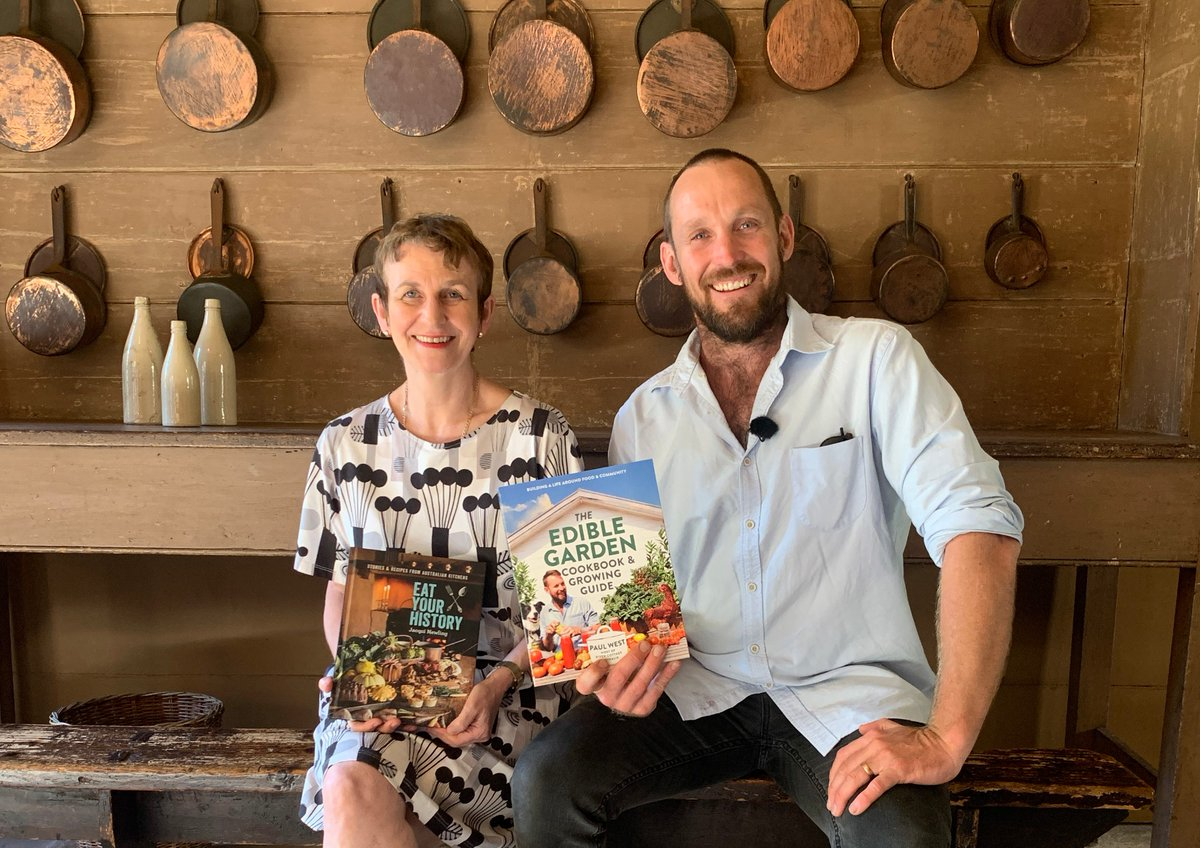 In our final video as part of our #SpringHarvest week, chef and author Paul West and @ColonialFoodie Jacqui Newling take inspiration from the kitchen garden at #VaucluseHouse to whip up an impressive salad that you can make at home. Watch now: https://t.co/Tbhi2dimoy. https://t.co/JDuf9THFTc