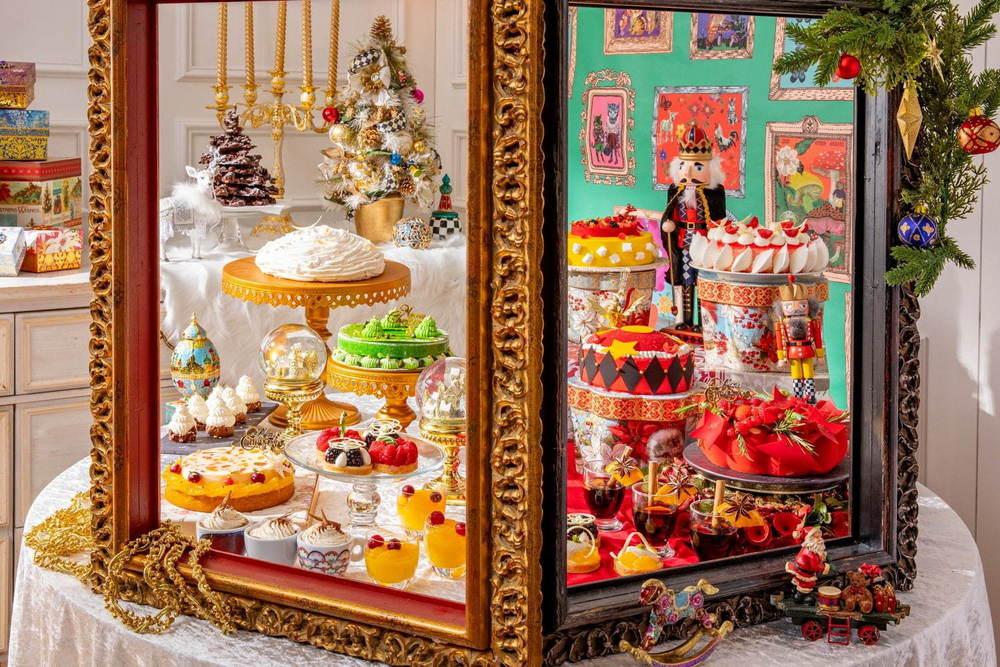 ヒルトン東京のクリスマススイーツビュッフェ、魔法のようにスパイスを効かせた約30種のスイーツ -