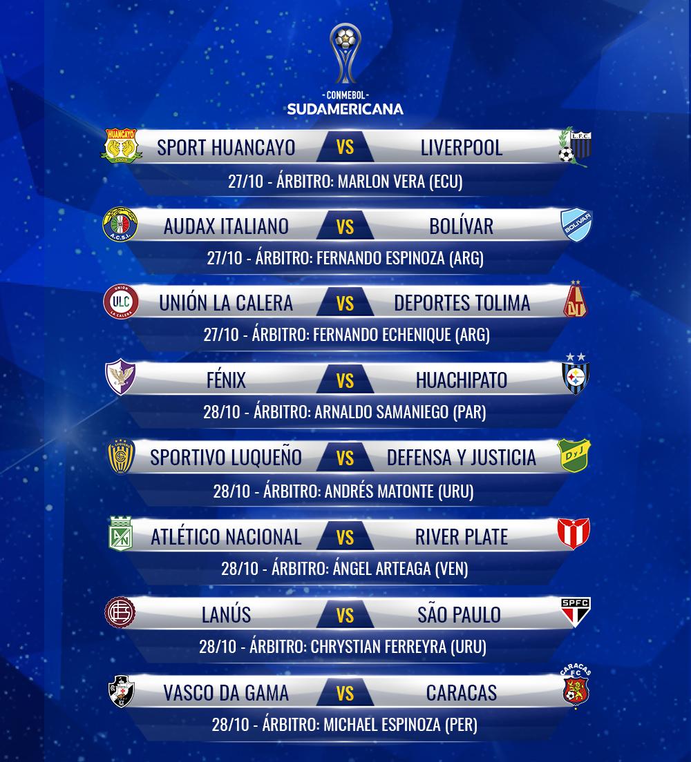📌 ¡Árbitros confirmados para los partidos de ida de la Segunda Fase!  🔜 Este martes, vuelve la #Sudamericana.  🏆 #LaGranConquista https://t.co/IM4d6zywYs