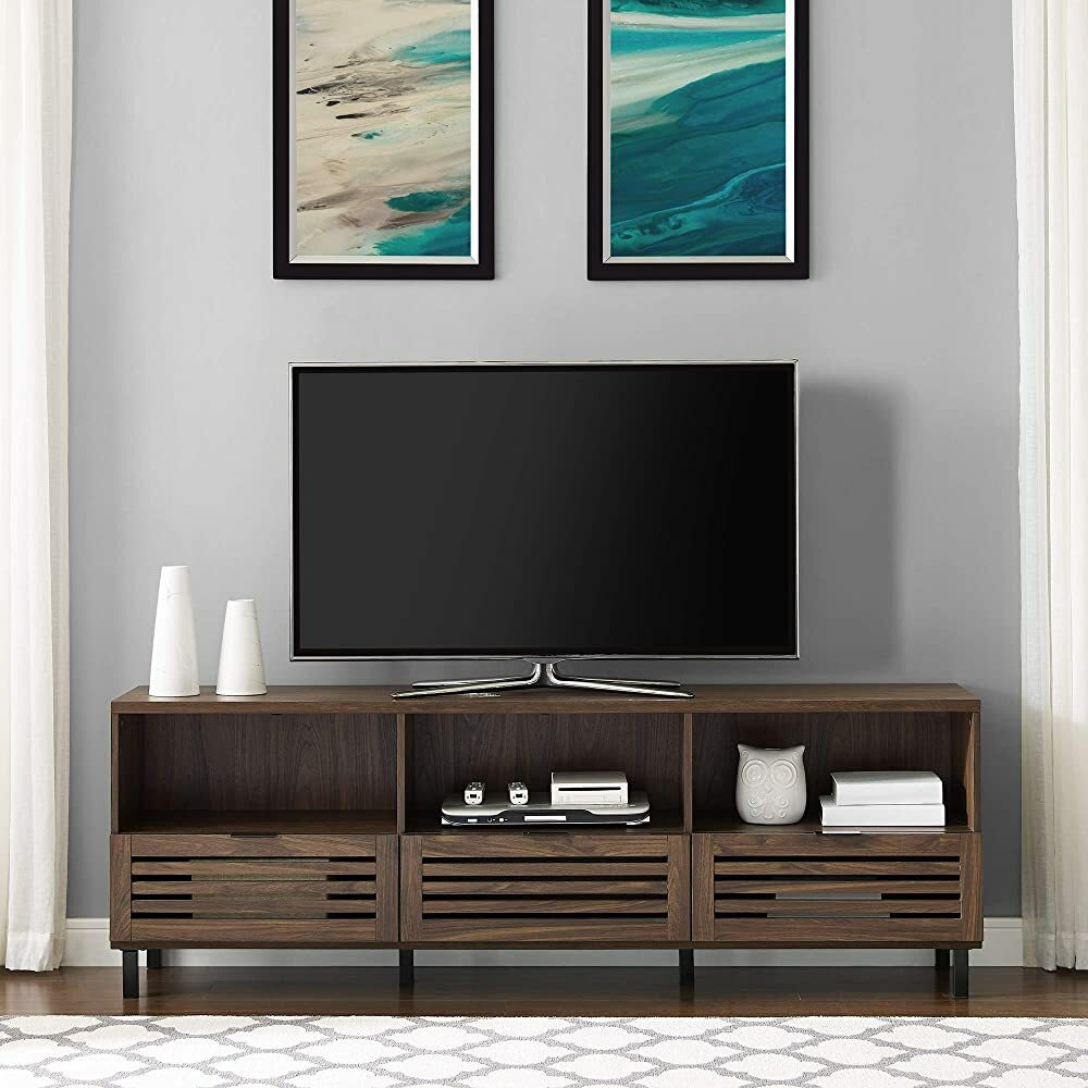 """Walker Edison Furniture Company Modern Slatted Wood 80"""" Universal TV Stand for Flat Screen Living Ro https://t.co/i6udYWhkhB #gifts #giftideas #shopping #household #holiday #blackfriday #thanksgiving #cybermonday @amazon #amazon #primeday https://t.co/oFfjDiqd2C"""