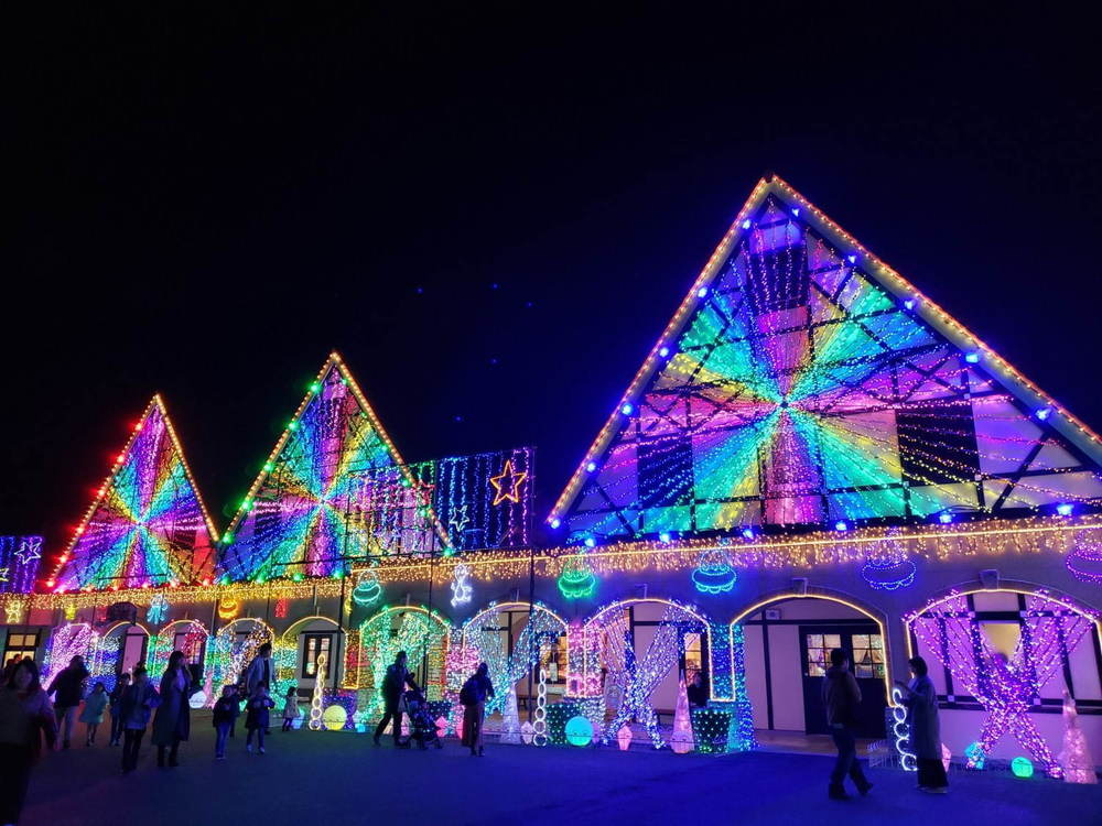 東京ドイツ村、約300万球輝くウインターイルミネーション - 観覧車から見下ろす3Dイルミアートも -