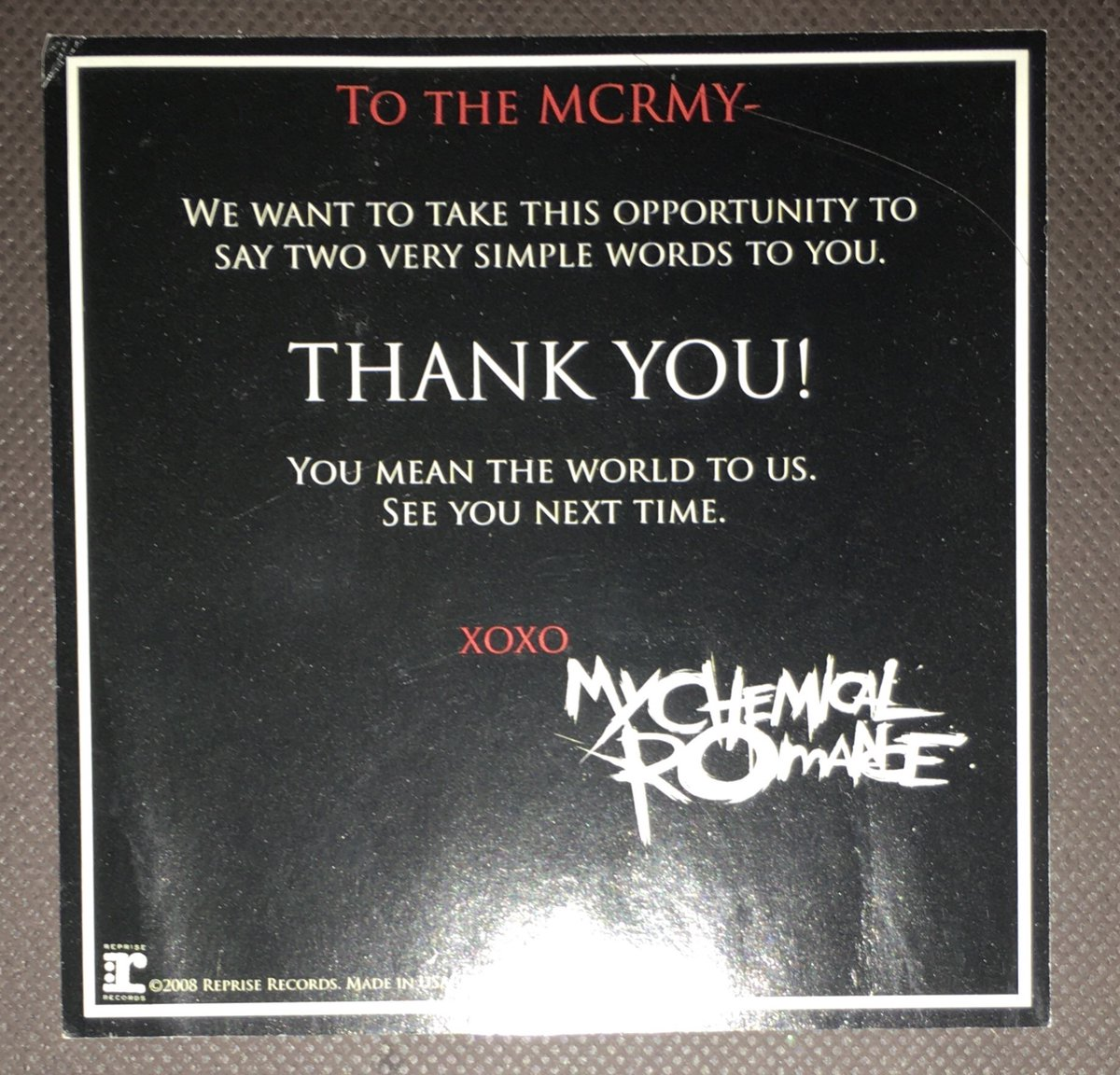 Aw. Black Parade life. #mcr @MCRofficial #housecleaning https://t.co/ue6ty2z1n8