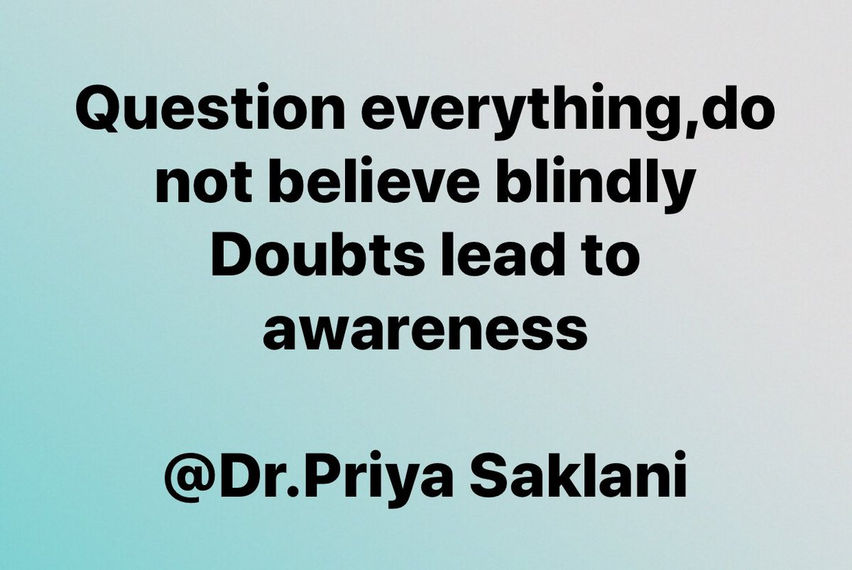 Do not just blindly follow, ask questions, doubt everything what you have been told , listen to you own inner guidance , and it will lead you to self awareness. #selfawareness https://t.co/FBIHKHjYwl