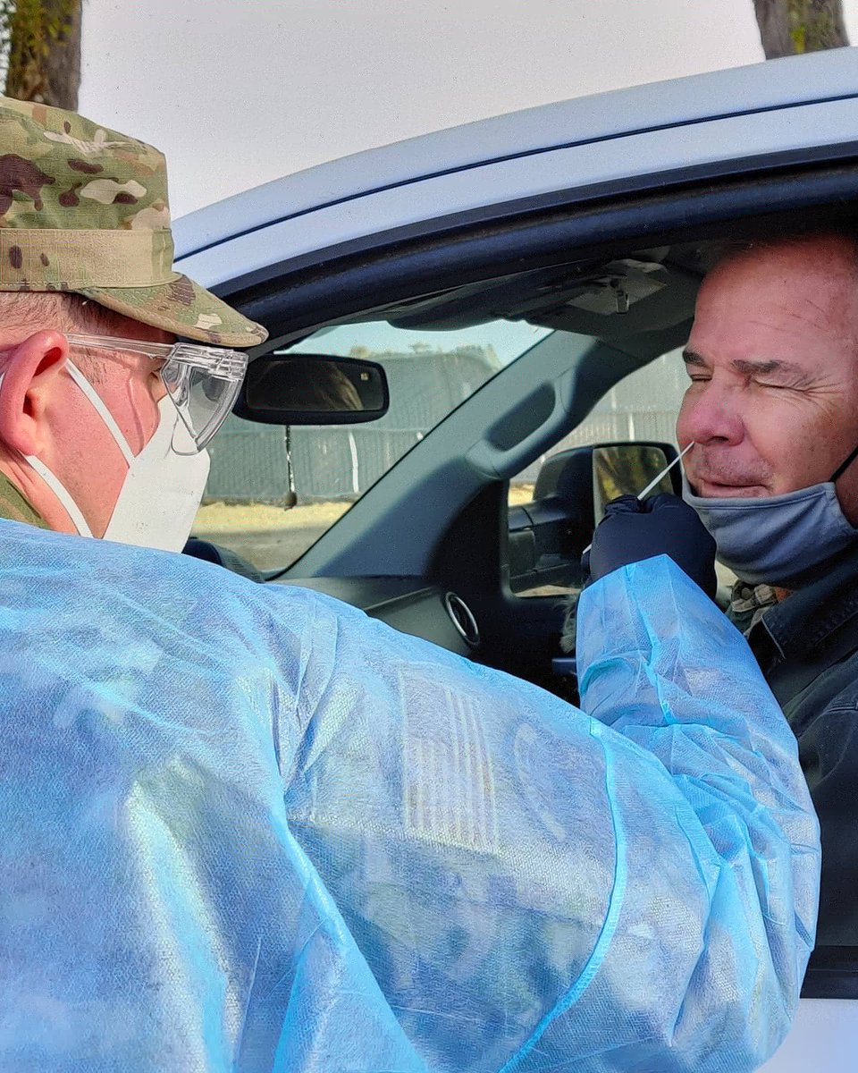 Yesterday  Army and Air Guardsman  were supporting a Community Based Collection Site in Elko, Nevada testing 127 residents in response to COVID-19  #BattleBorn #nevada #guardstrong  #inthistogether  #armystrong  #airforce  #COVID19  #community https://t.co/HFuVyWvkpG