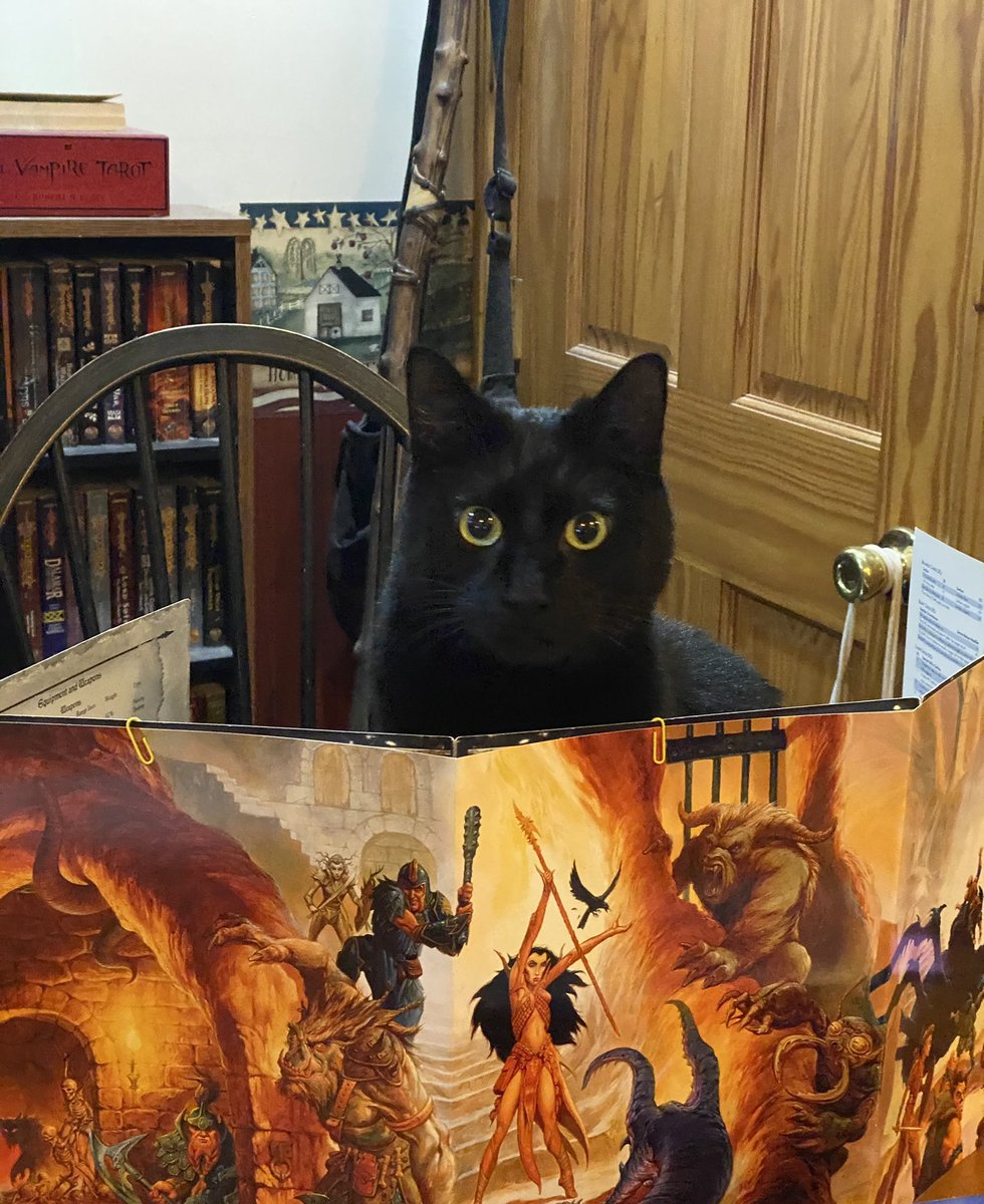 @ChrisPerkinsDnD can Tasslehoff Purrfoot become an honorary Dungeon Meowster? He's very fair...unless catnip is involved. #dnd #DnD #wizardsofthecoast #dungeonmeowster #rollforinitiative https://t.co/xjjpHc8n5I