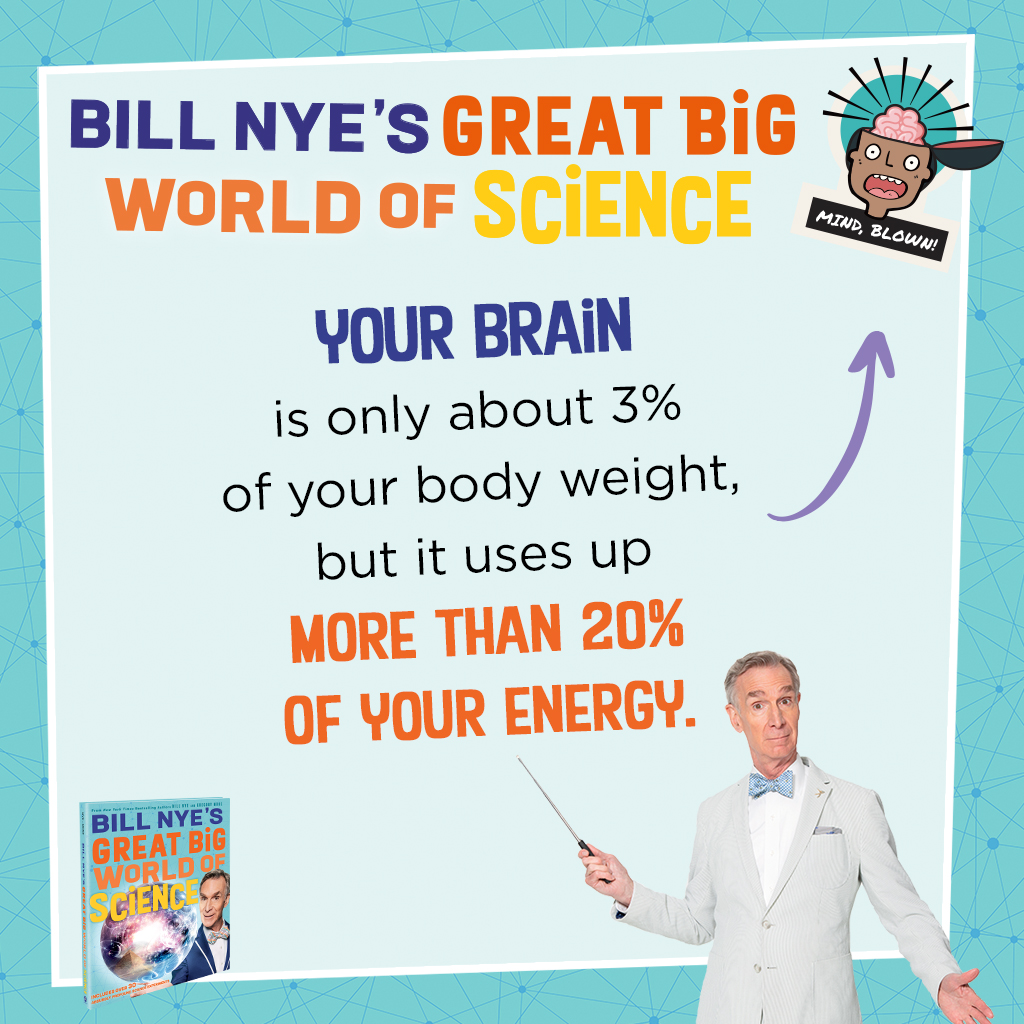 """As @BillNye and @gmmone state in their forthcoming book, """"The human body is one of the coolest machines in the cosmos."""" More mind-blowing facts coming your way this Tuesday! #GreatBigWorldOfScience https://t.co/TZiPfjccZ7 https://t.co/UlBRsGENyr"""