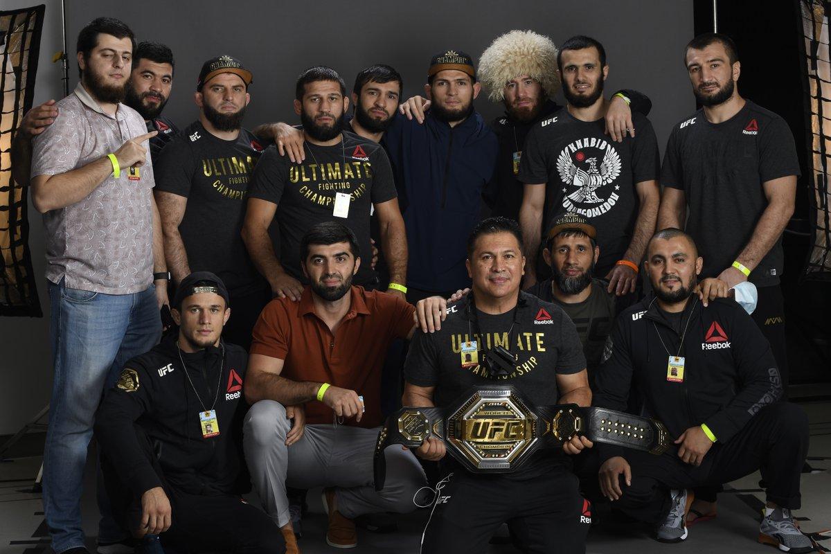 That's why he's called @TeamKhabib!  #UFC254 | #InAbuDhabi | @VisitAbuDhabi https://t.co/jP0bF2Ib61