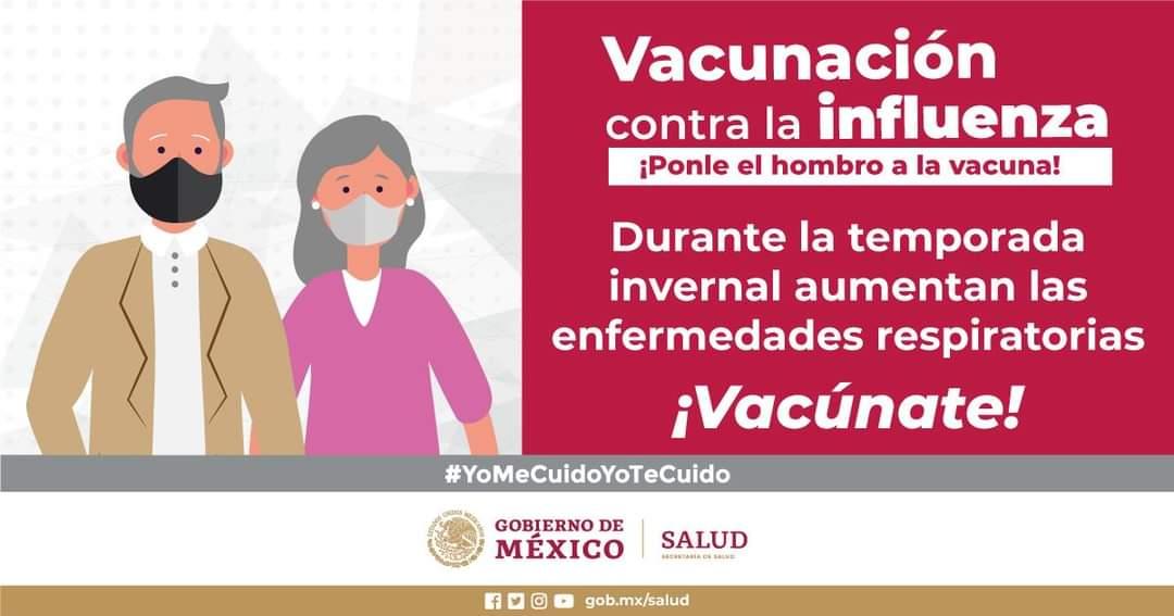 ¡Ponle el hombro a la vacuna! Vacúnate contra la influenza. #CuidaTuSalud https://t.co/9NomcyAHQg