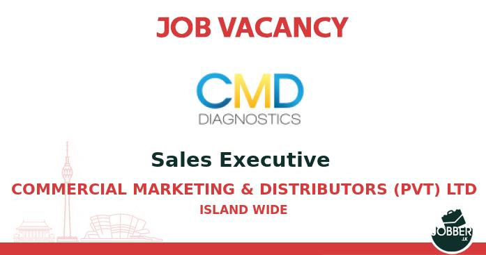 Job vacancy Sales Executive  from Commercial Marketing & Distributors (Pvt) Ltd. To Apply : https://t.co/asCEeBIXAL . #jobsInSriLanka #sriLanka #sriLankan https://t.co/4l5D5PaZmk