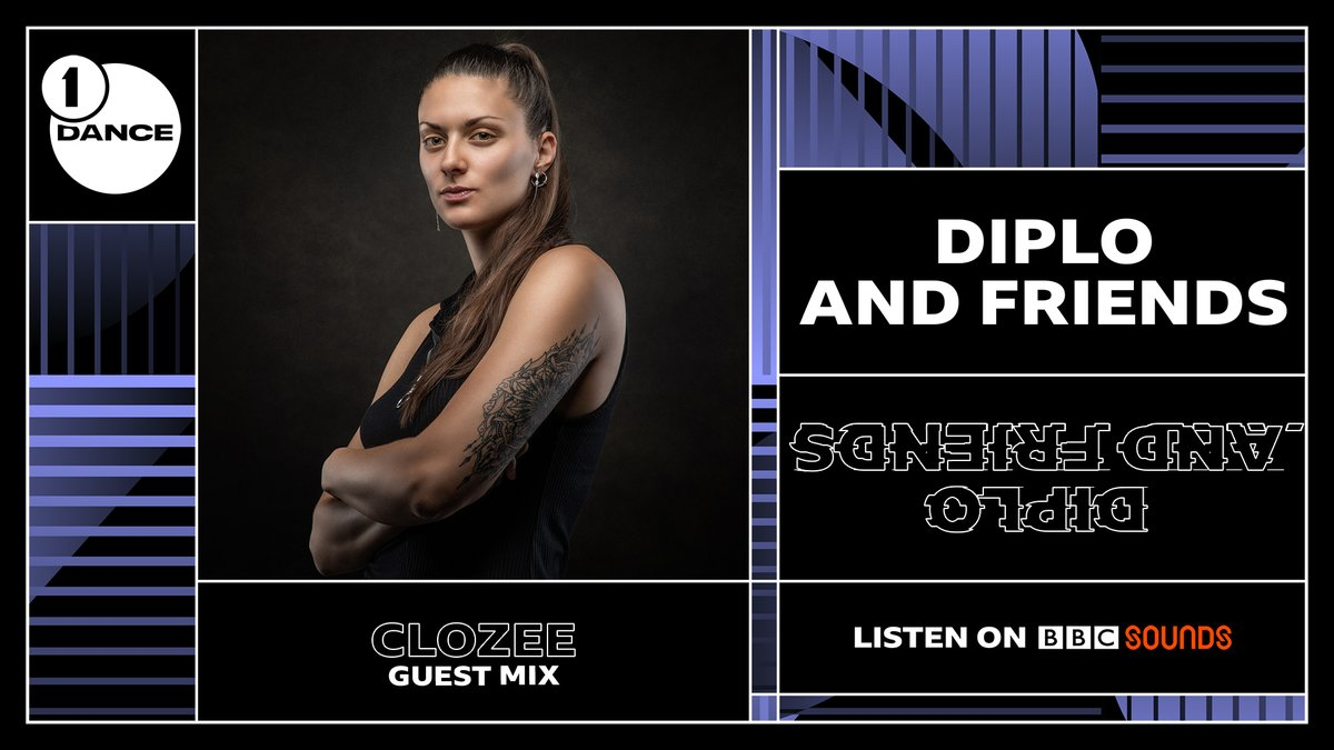 👉 We continue with the atmospheric sounds of the amazing @CloZeeOfficial, in the mix for @Diplo and Friends! #R1Dance   🔊 https://t.co/kHdml6Xnf1  She's got... @Robotaki @mura_masa_ @TroyBoiMusic @romeinsilver @IvyLab_ and more 🔥🔥🔥 in the next hour! https://t.co/Yorprc6Ydo