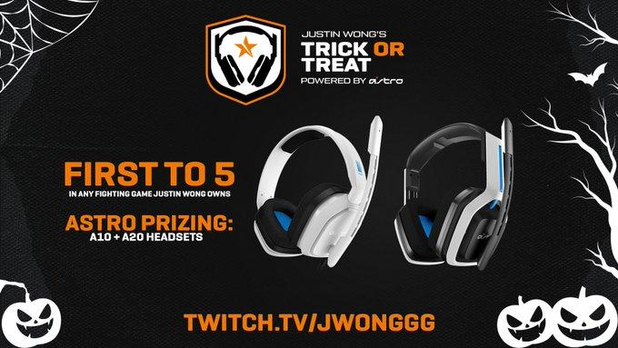 The one and only @JWonggg is getting into the Halloween spirit with some good old fashioned Trick or Treating. Ready for a 1v1? 🎃Trick: JWong goes random, beat him & get an A10 Headset 🍬Treat: Win a normal 1v1 and get an A20 Headset Live now // twitch.tv/Jwonggg