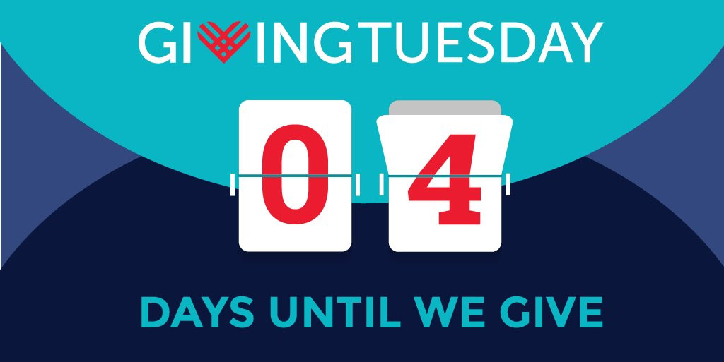 4 days until #GivingTuesday! Comment below with how you're planning to back to your community on Dec 1.