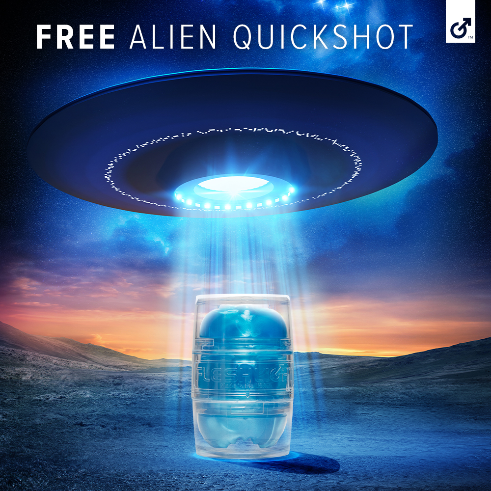 Scare up some fun this Halloween with a FREE limited edition Alien Quickshot toy with minimum purchase! Visit Fleshlight.com for details, but dont delay - theyre only available while supplies last!
