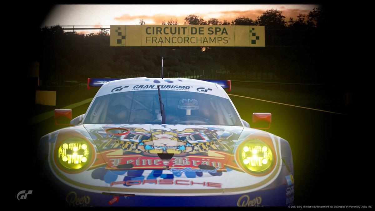 #Spa24h #Porsche   @thegranturismo #GTSport  @circuitspa 🇧🇪 #LeinerBräu #Livery  PSN: OneLeiner https://t.co/3hElNX8TVY