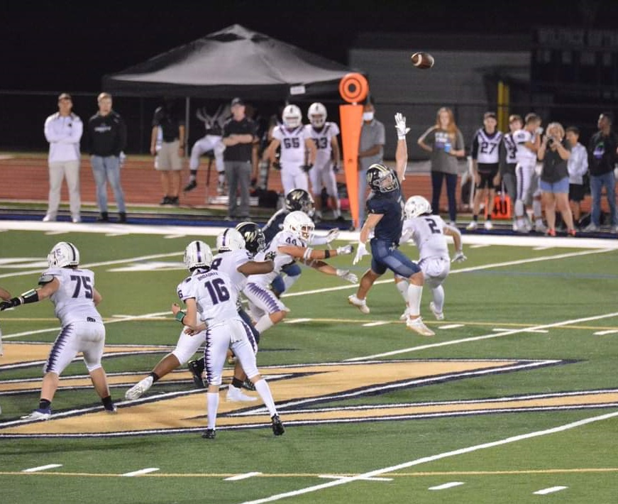 With starting QB David Dallas banged up a bit - sophomore QB @henry_brodnax came in to seal the 20-12 @football_tcs victory over Whitefield Academy.  He had a 55-yd touchdown pass to @dannybaird_ https://t.co/F3CYC2nCZz